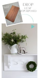 How to make a shelf out of a drop leaf from confessionsofaserialdiyer.com