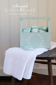 Tote makeover in Sunken Pool by Behr