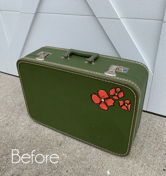 $4 Vintage Suitcase Makeover