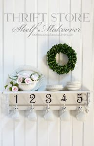 Adding numbers to the bottom of this shelf gave it a whole new look!