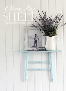Shelf made from a chair.