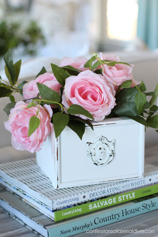 Drawers Repurposed as Spring Arrangements