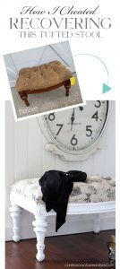 The easiest way to recover a tufted stool.