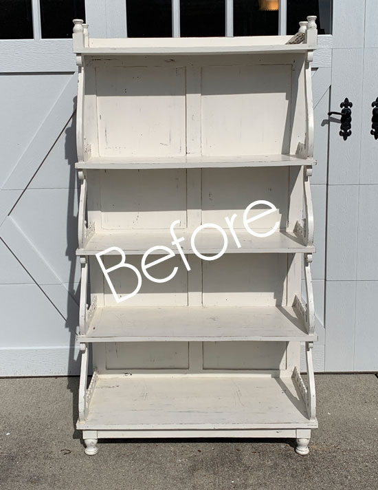 Estate Sale Shelving Unit Makeover