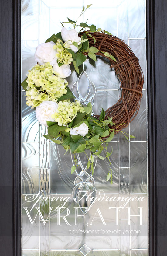 How to create a Spring Hydrangea Wreath