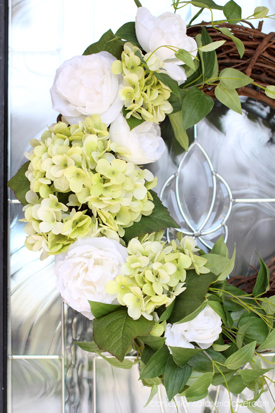 Spring Hydrangea Wreath Confessions Of A Serial Do It Yourselfer