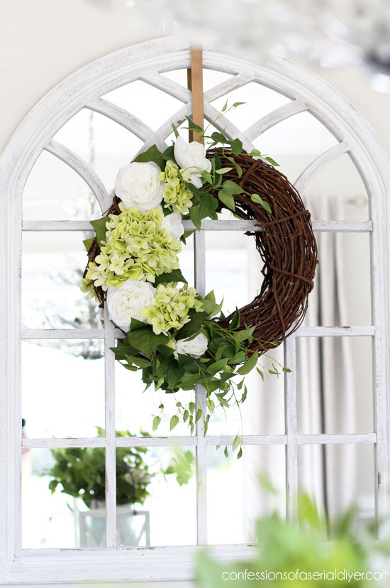 How to make a hydrangea wreath.