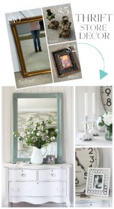 Thrift Store finds painted make beautiful new decor!