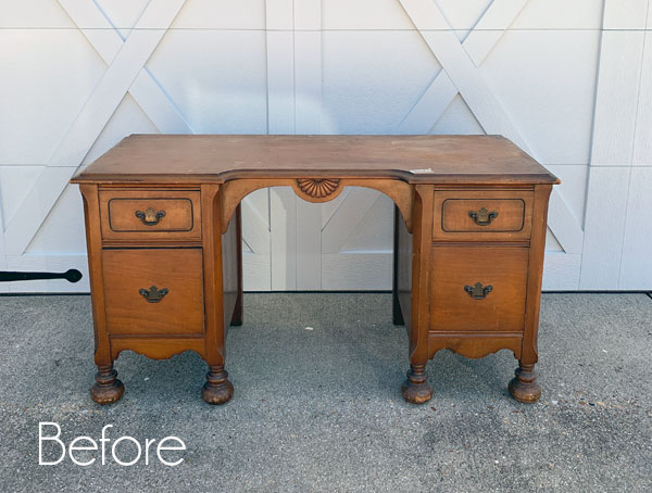 $19 Estate Sale Desk Makeover