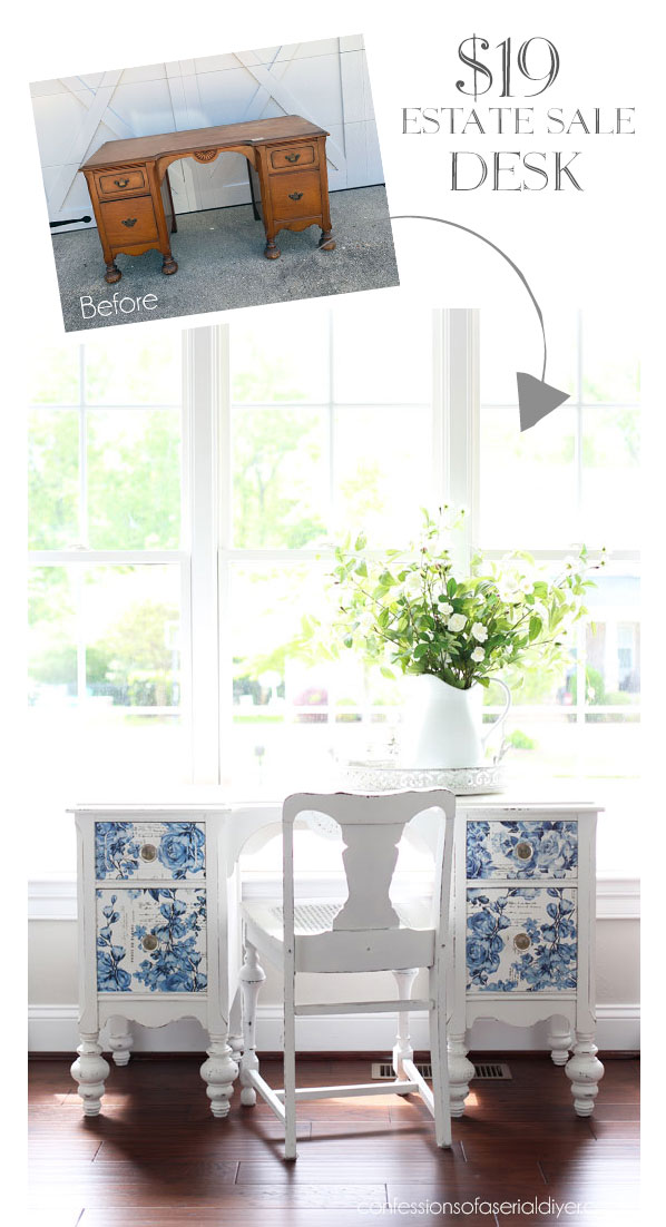 Prima Marketing Redesign Transfers made this desk beautiful!
