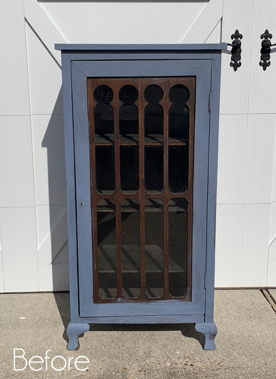 $24 Estate Sale Cabinet Makeover