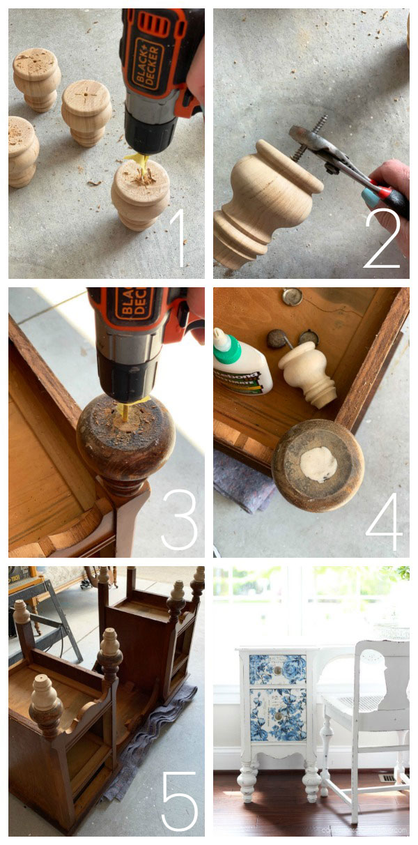 How to add feet to furniture