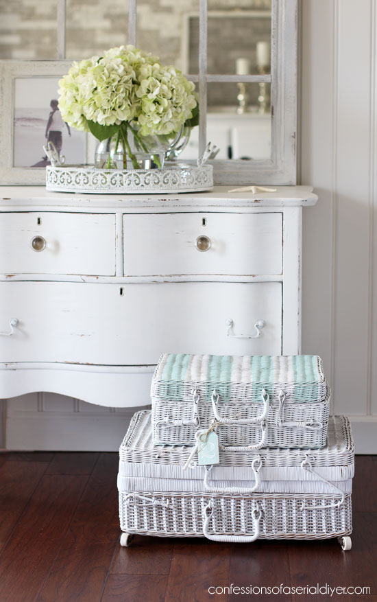 How to line a basket with fabric.