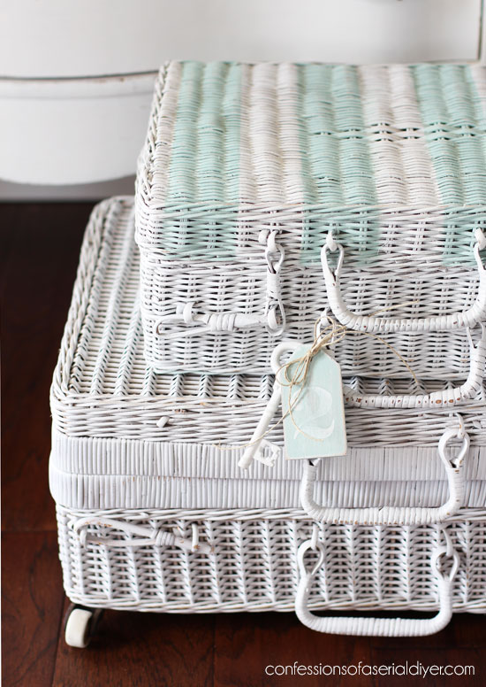 How to line a basket with fabric from confessionsofaserialdiyer.com