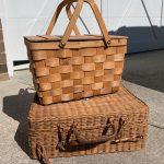 Thrift Store Baskets go Coastal