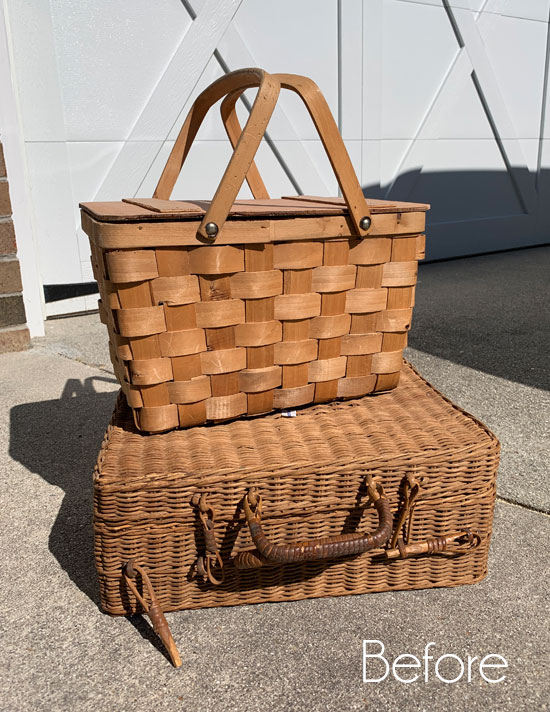 Thrift Store Baskets go Coastal
