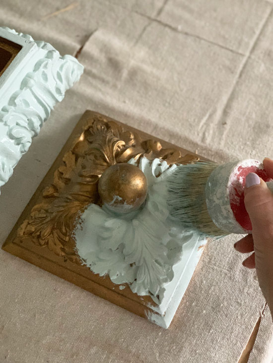 My favorite brush for painting all those ornate details.