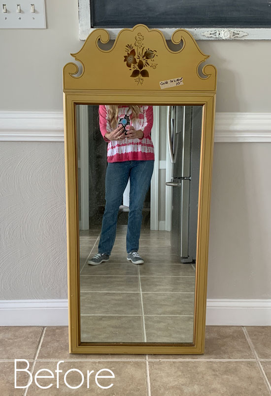 70's Gold Mirror Makeover