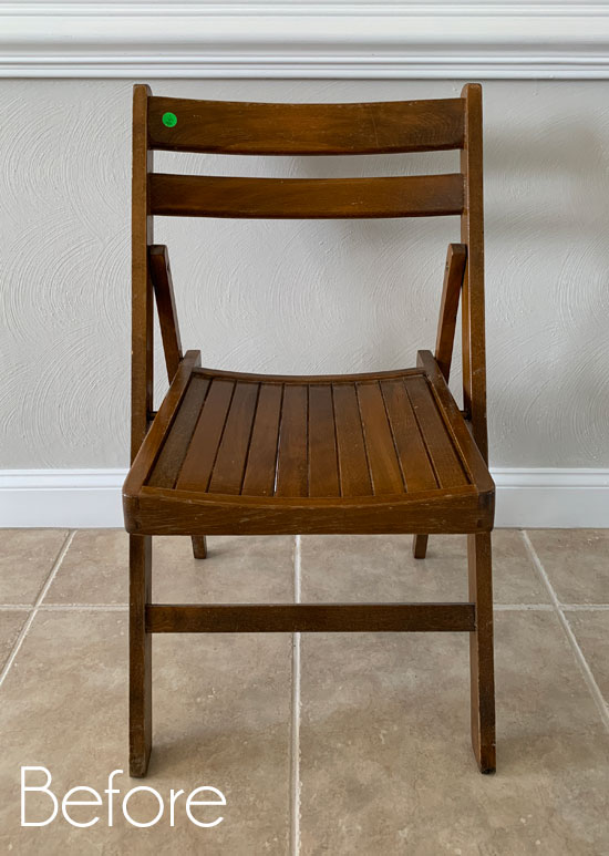 Folding Wooden Chair Makeover and a Giveaway!