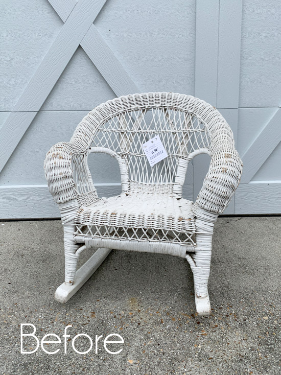 Child's Wicker Rocker Makeover