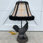 $6 Rooster Lamp Makeover