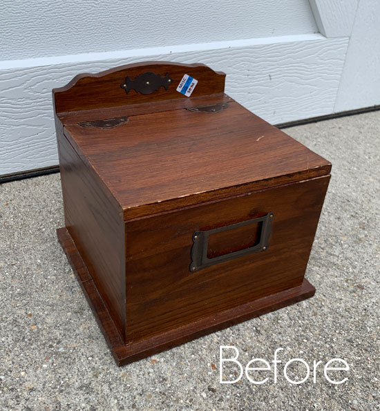 $2 Thrift Store Box Makeover