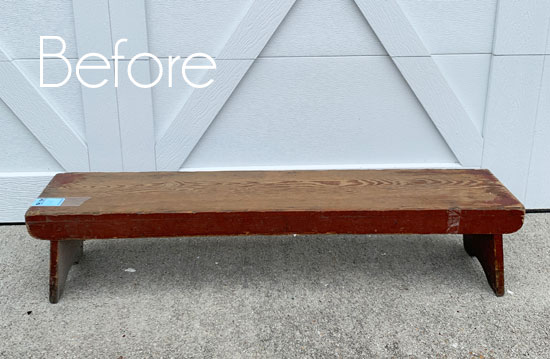 $6 Thrift Store Bench Makeover