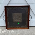Thrift Store Tray Makeover with Shiplap