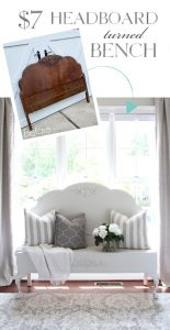 How to make a headboard bench without a footboard.