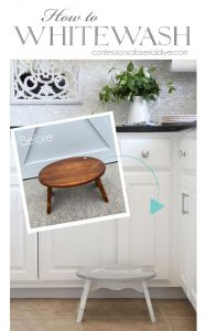 How to whitewash furniture from confessionsofaserialdiyer.com
