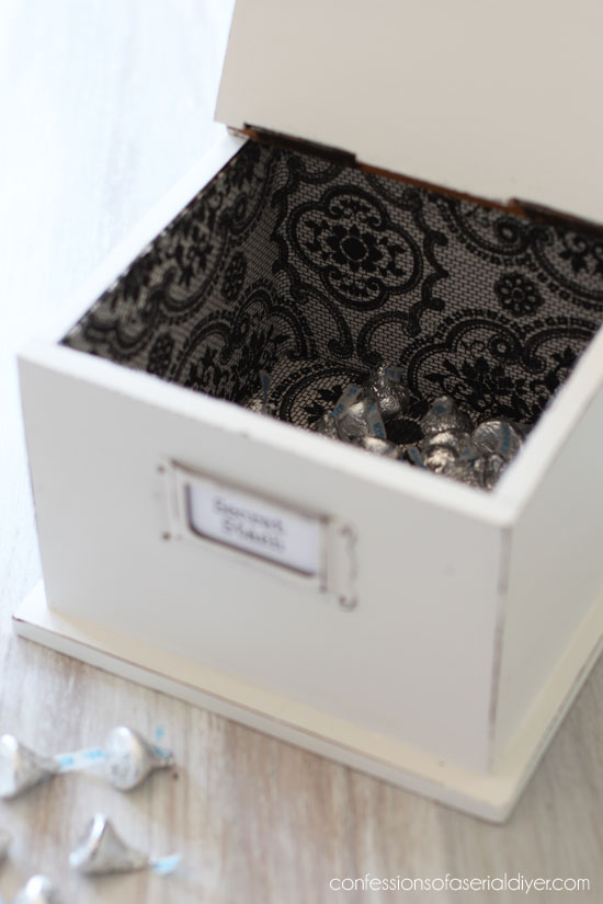 $2 Thrift store box makeover from confessionsofaserialdiyer.com