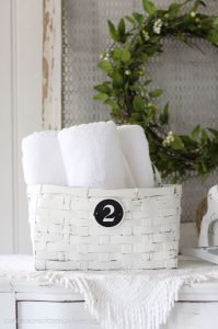 Painted thrift store basket
