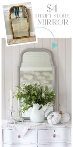 Mirror painted in Dixie Belle's Driftwood