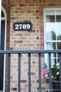 How to turn a thrift store tray into a house number sign!