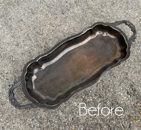 Small Silver Tray Makeover & The Haul of Shame