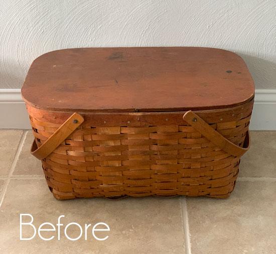 $7 Vintage Picnic Basket Makeover