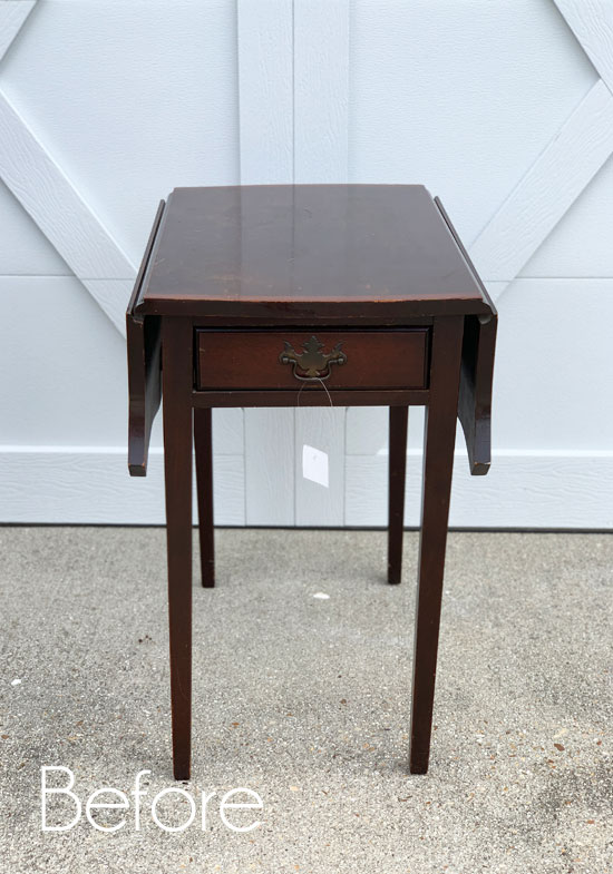 Cottage-Inspired Drop Leaf Side-Table
