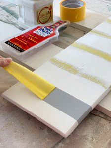 Adding stripes with paint and frog tape