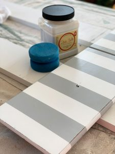 Clear Coat in Satin by Dixie Belle is my favorite way to seal painted projects.