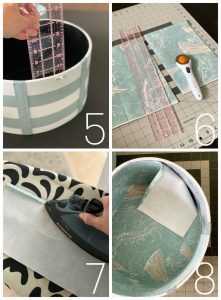 How to line a round box with fabric