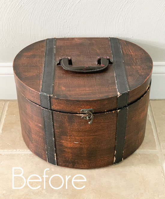 Thrift Store Hatbox Makeover