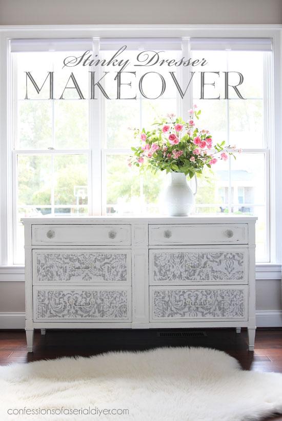 Stinky dresser makeover