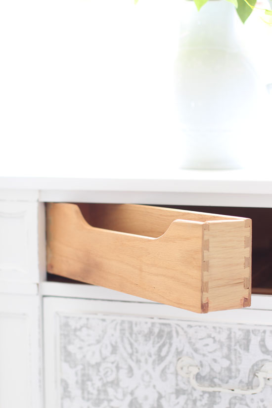 Secret compartment in dresser