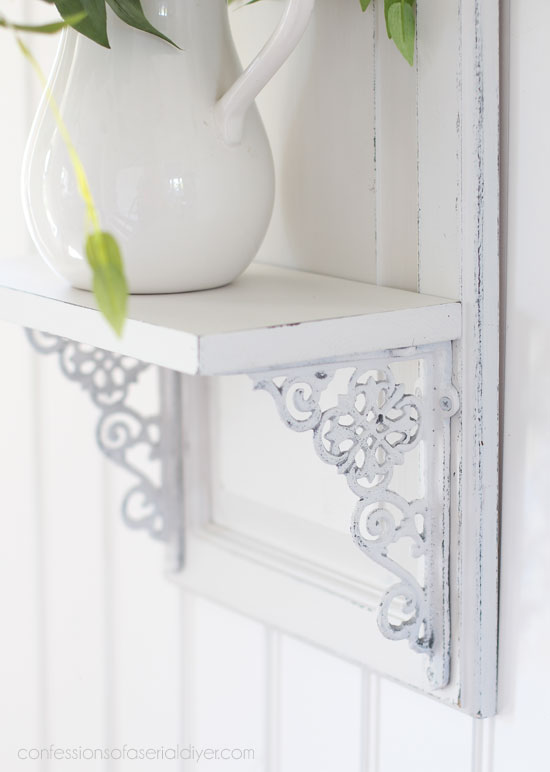 Cabinet Door shelf from confessionsofaserialdiyer.com