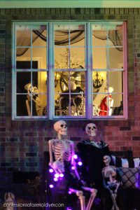 Skeleton Dinner Party in the Dining Room