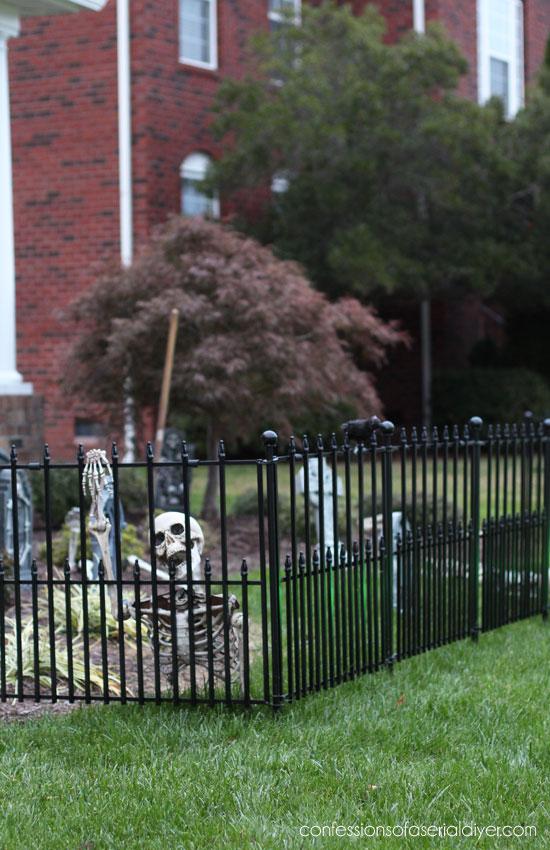 Halloween cemetery fence