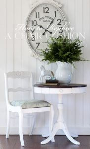 How to replace a chair cushion.