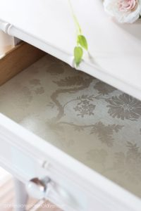 Use wallpaper to line drawers