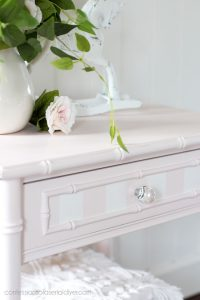 Night Table painted in Dixie Belle Pink Champagne