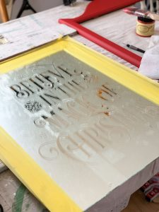 Use a silhouette machine to create a faux-etched mirror!